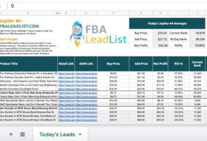 FBA Lead List - Online Arbitrage - Sellerspaceship.com