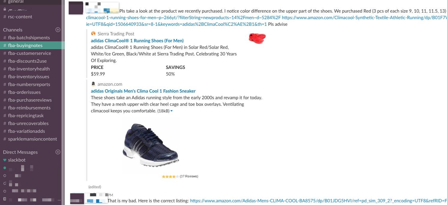 Slack Channel #fba-buyingnotes - Online Arbitrage - Sellerspaceship.com