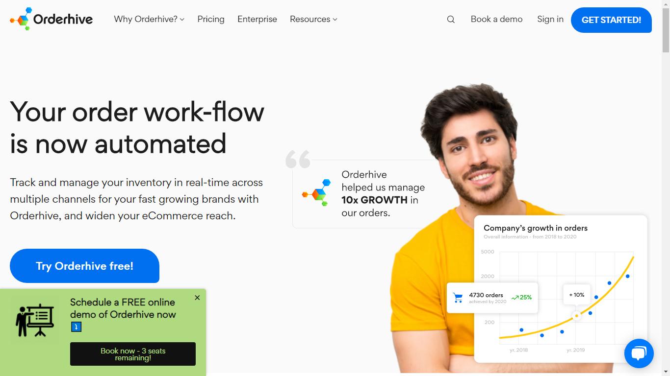 Orderhive Homepage